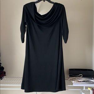 KAREN KANE BLACK COWL NECK DRESS